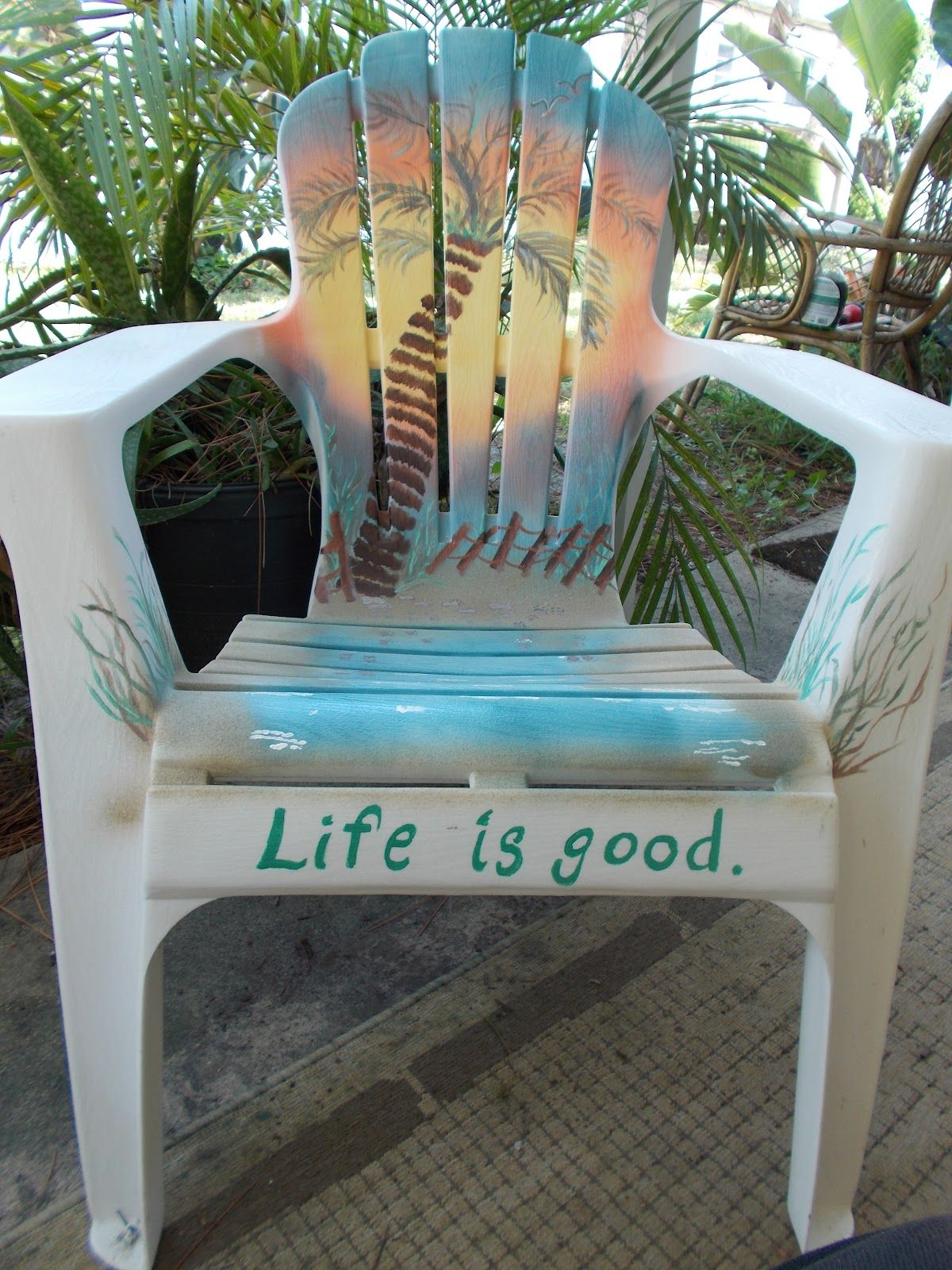 This Chair Is Plastic It Can Be Done Artsy Painted