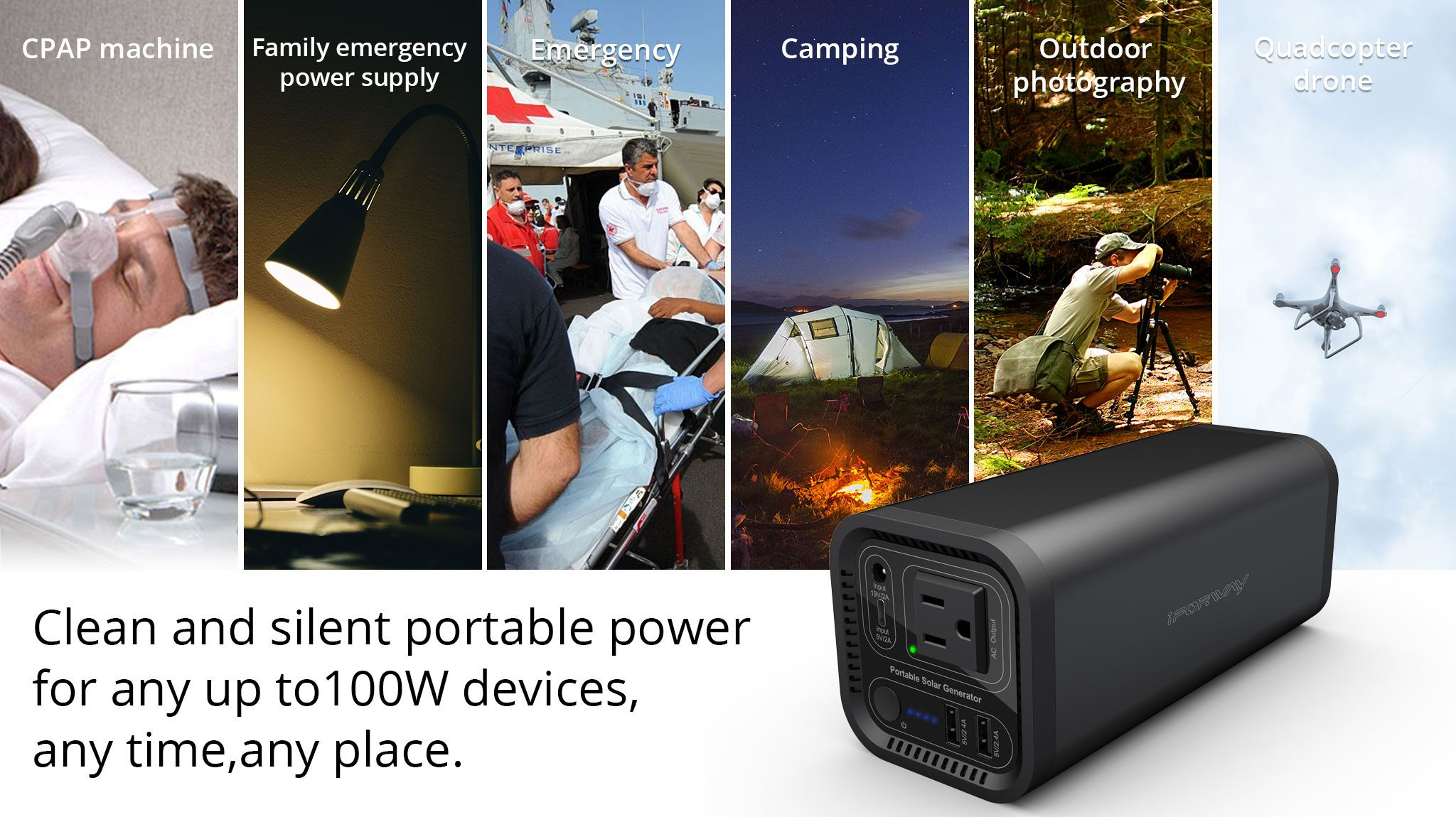 Backup Charger Powerbank DC Output Outdoor Power Source