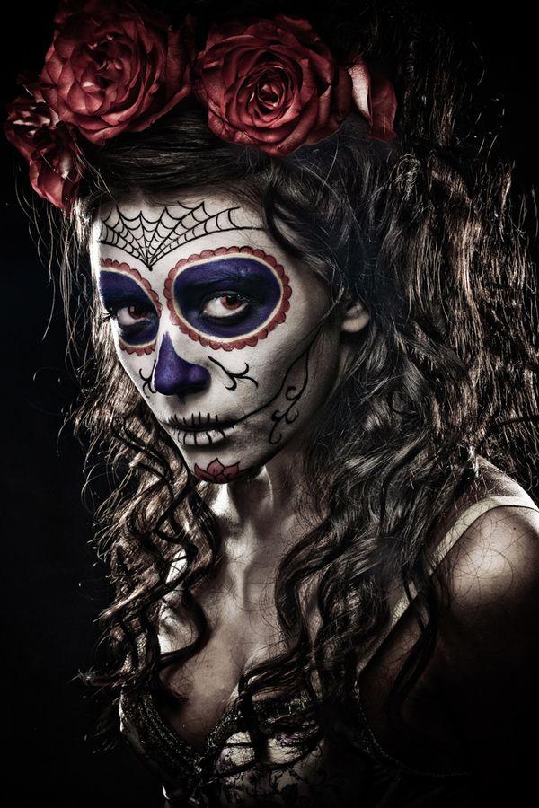 Dia de los muertos inspiration d a de los muertos pinterest halloween halloween ideen y - Mexikanische totenmaske name ...
