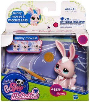 Littlest Pet Shop Walkables Figure 2474 Bunny By Hasbro 10 99 X2 Batteries Included Bunny Moves Wiggles Ears Incl Littlest Pet Shop Pet Shop Cute Fish