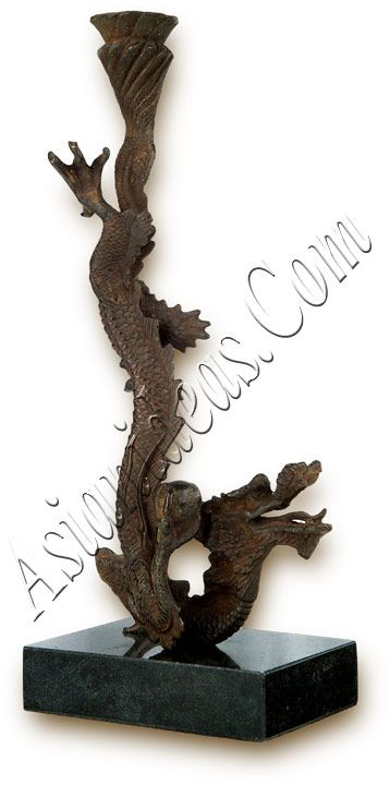 Iron Dragon Candle Holder