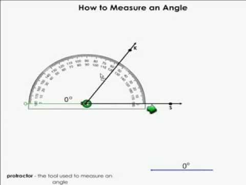 ▶ Measuring and Angle - YouTube  teaching video