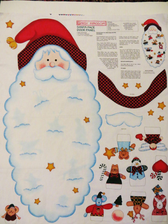 Daisy Kingdom Santa Face Door Panel Christmas Panel Ornaments Beard Christmas Sewing Christmas Project Chr Santa Face Christmas Sewing Diy Fabric Crafts