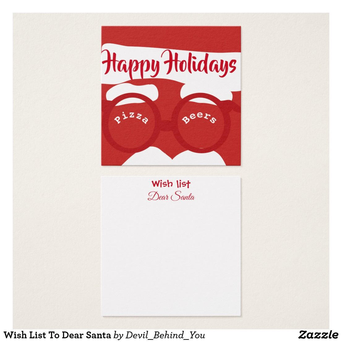 Wish list to dear santa square business card dby miscellaneous wish list to dear santa square business card colourmoves