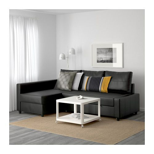 friheten sofa bed with chaise bomstad black ikea my black friday purchase today. Black Bedroom Furniture Sets. Home Design Ideas
