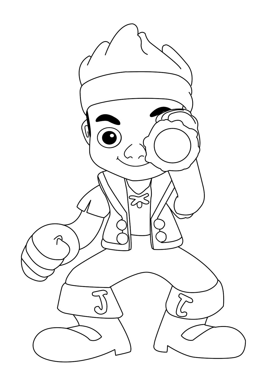 Colouring in halloween - Jake And The Neverland Pirates Halloween Coloring Pages K0dtsyq7l
