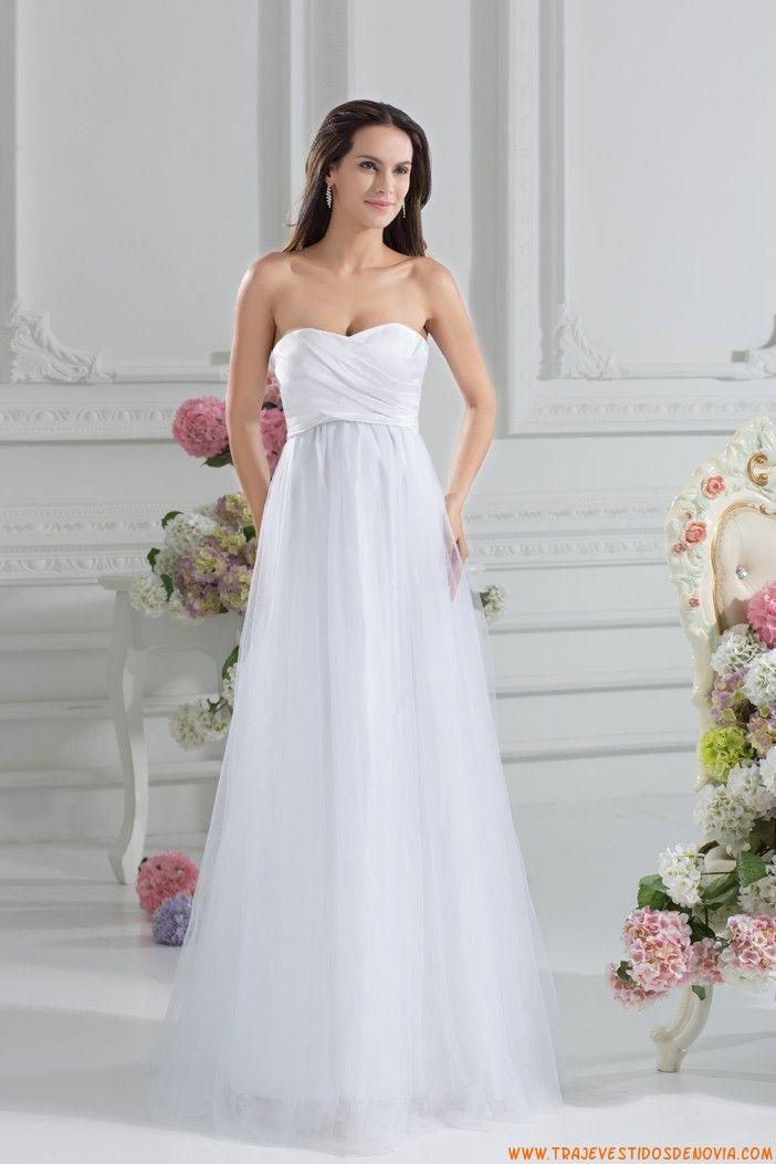 traje de novia de tul blancos sencillos 2014 | I ❤ Weddings ...