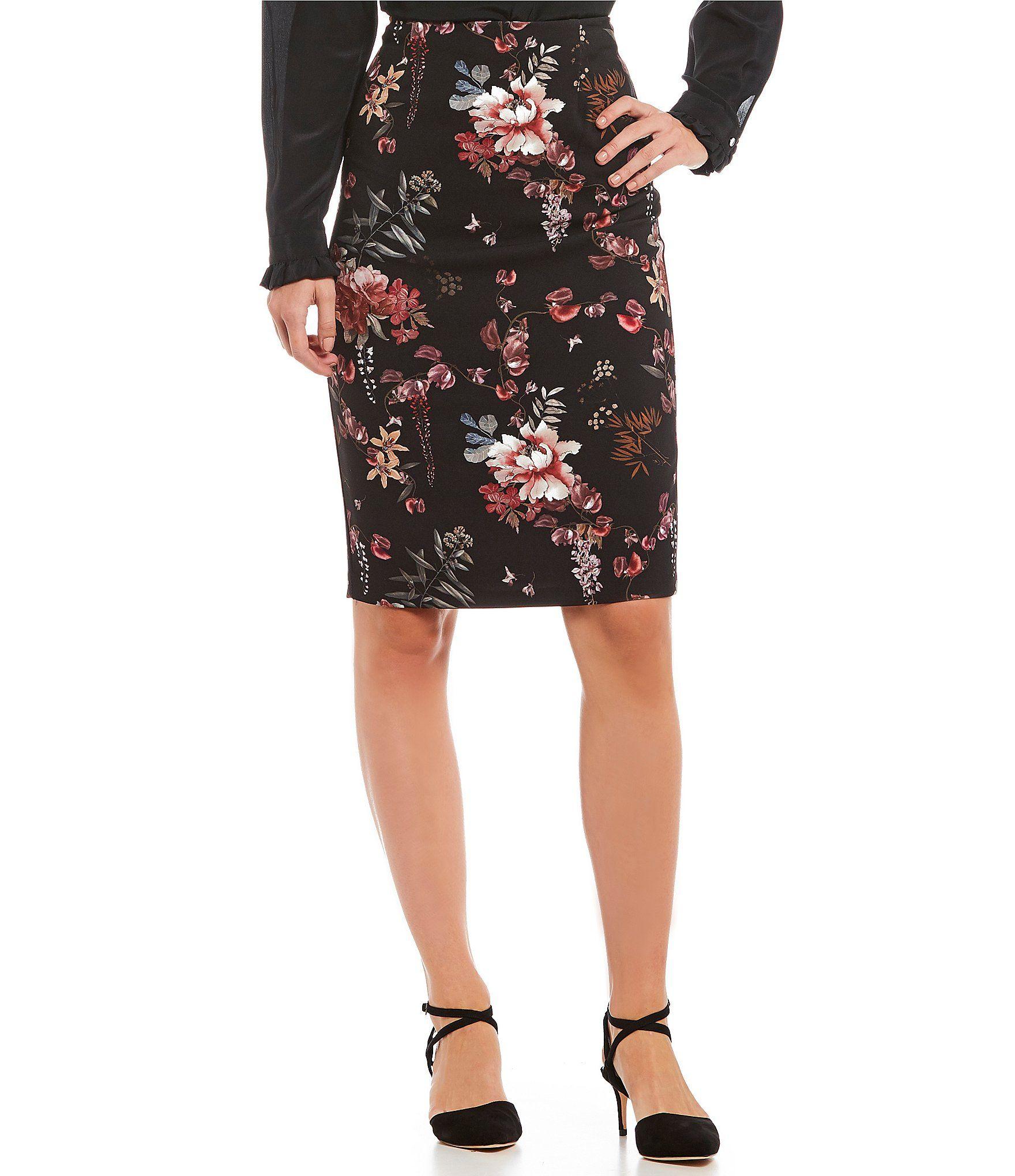 71732b70a7 Antonio Melani Crepe Tami Floral Print Pencil Skirt #Dillards | Skirts