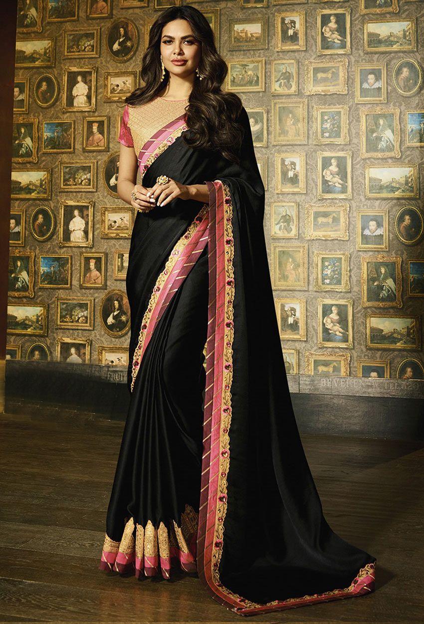 043198d7b Black Silk Designer Party Wear Saree  blackcolorsaree   blackcolorsareeonline  onlineblackcolorsaree  dress  onlineindiandress   sale nikvik  freeshipping ...