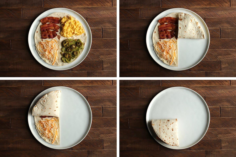 Tiktok S Tortilla Trend Is Basically A Quesadilla With Extra Fun Folded In In 2021 Food Tortilla Quesadilla
