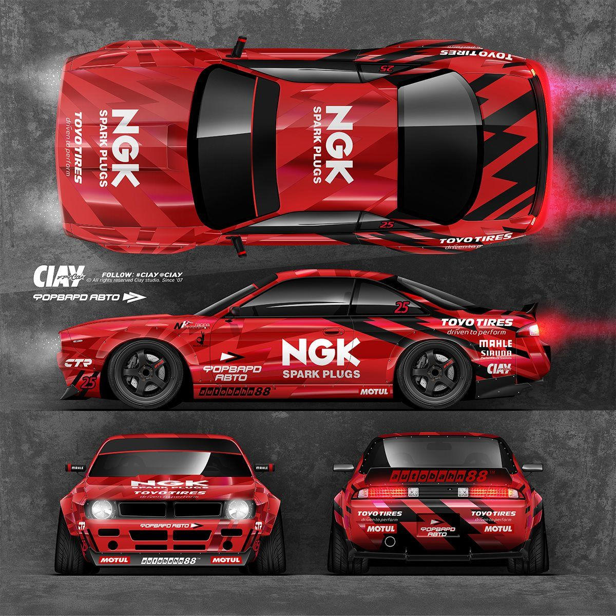 red ngk racing car livery we collect and generate ideas. Black Bedroom Furniture Sets. Home Design Ideas