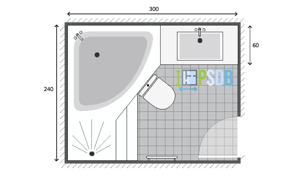 Exemple de plan de salle de bain de 7m2 plan salle de - Exemple amenagement salle de bain ...