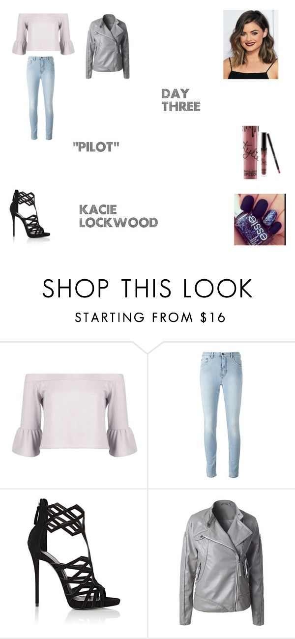 """Kacie LockWood Worlds Colliding (The Vampire Diaries) 1.01 ""Pilot"""" by jdefloria on Polyvore featuring Boohoo, Giuseppe Zanotti and Kylie Cosmetics"