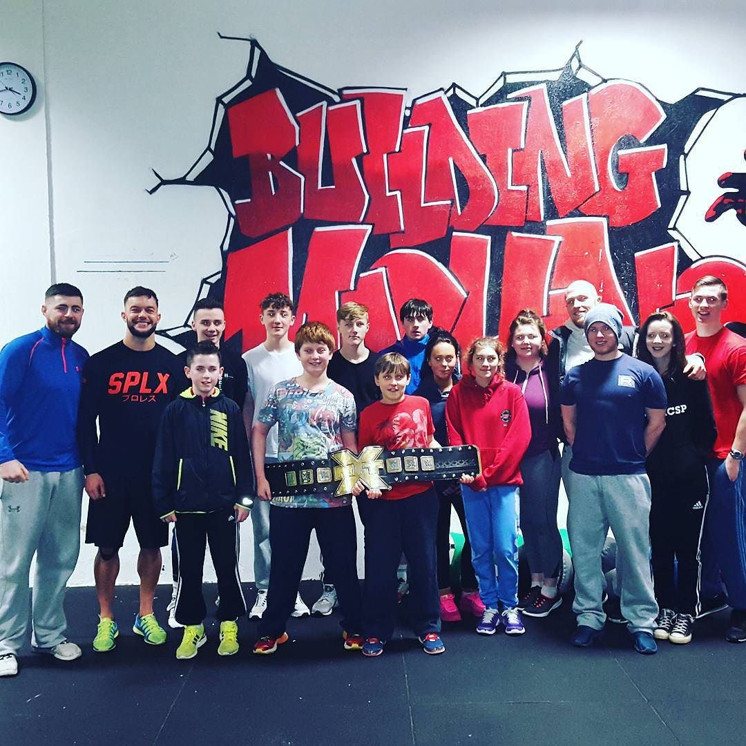 Great day at the gym today as our Teens class got to train alongside @wwe superstar @wwebalor even getting to hold that Championship belt!