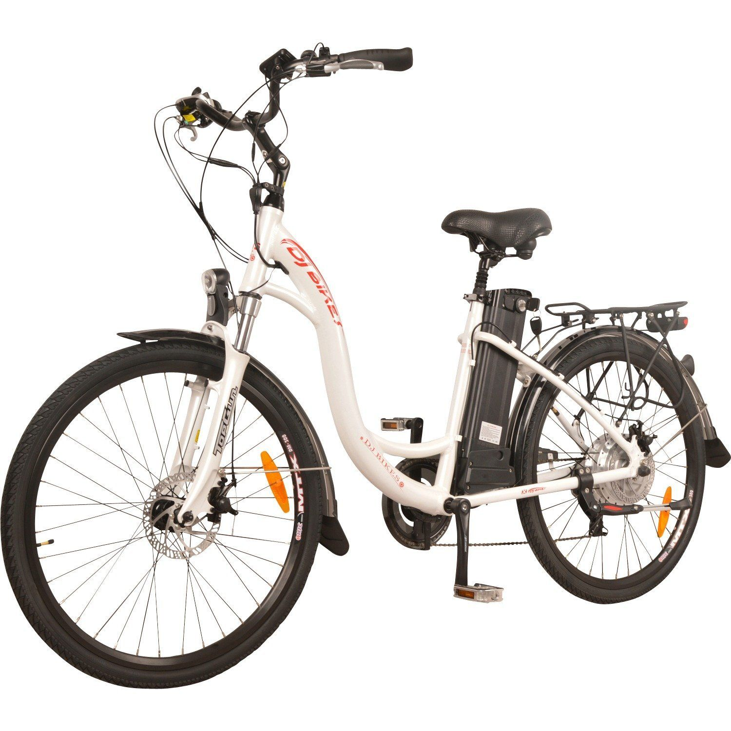 Dj Bikes City 500w 7 Speed Electric Bicycle 48v 13ah Lithium Ion