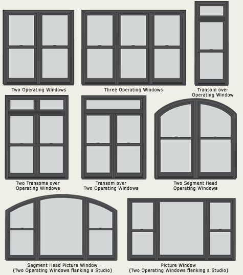 Ultra series sterling double hung windows window options for Replacement window sizes