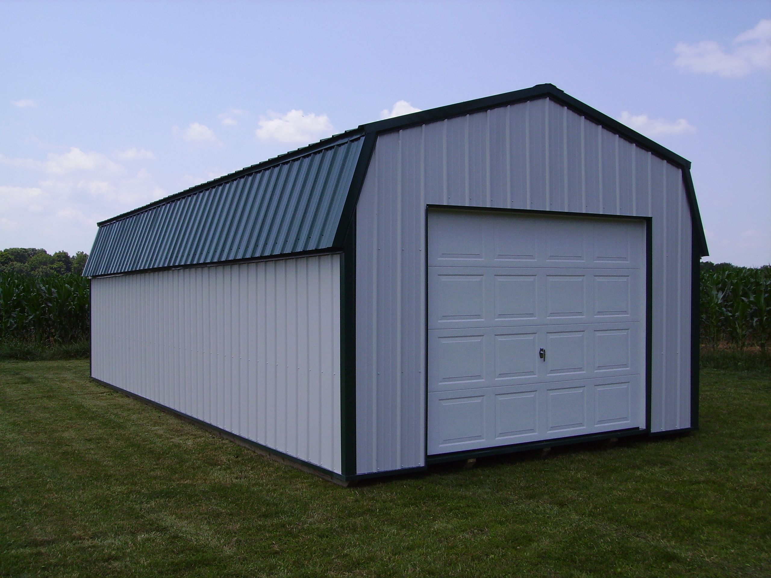 Best Amusing Prefab Garages Near Blue Colored Roof Along With 400 x 300