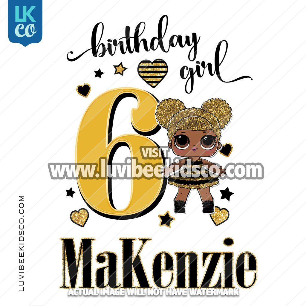 LOL Surprise Iron On Transfer Design Birthday Girl
