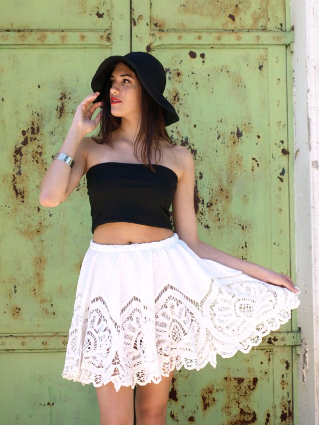 Free Pattern Crocheted Lace Skirt Upcycle Tablecloth Dress But