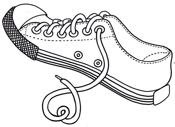 Untied Shoes Rope Coloring Page Coloring Sky In 2020 Coloring Pages Shoe Rope Color