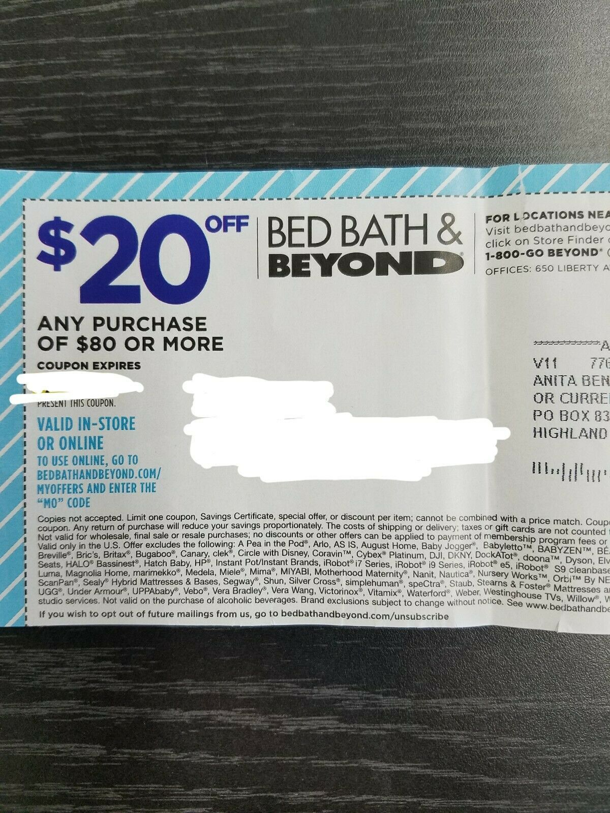 Bed Bath & Beyond Coupon 20 Off Any 80 Purchase Online