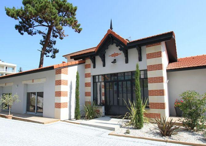Belle maison arcachonnaise maison de plain pied qui allie l gance et tradition maisons - Belle maison a construire ...