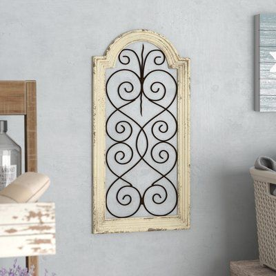 Lark Manor Ivory Wood Metal Wall Decor In 2020 With Images Metal Wall Decor Window Wall Decor Arched Wall Decor