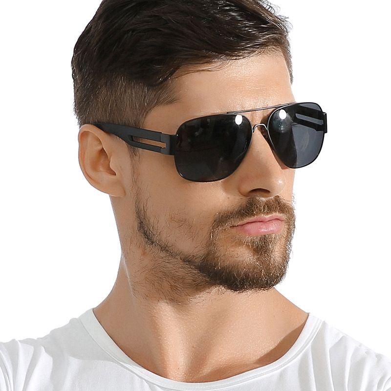93 fashion mens metal large frame polarized sunglasses