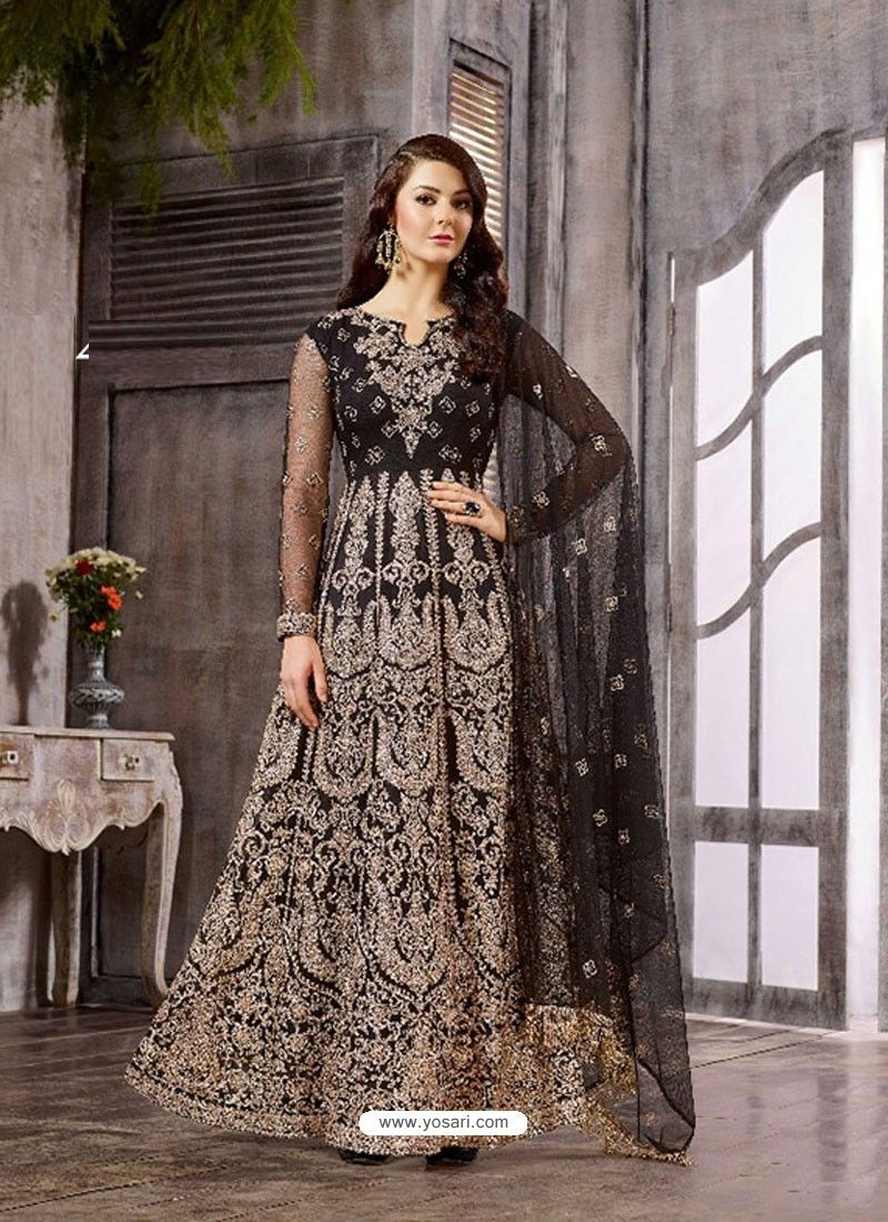 999e665622 Black Net Georgette Designer Anarkali Suit