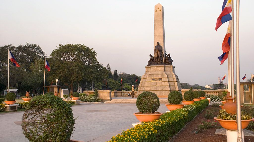 Take a stroll through Rizal Park, a historical urban park