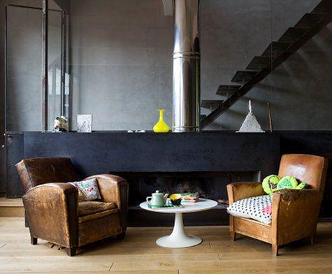 So Parisian Stylish Living Room Armchair Design Grey Walls