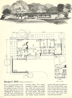 Vintage house plans mid century homes 1960s houses for 1960 ranch style home plans