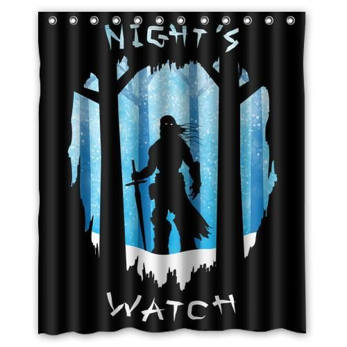 Cool Game Thrones Night S Watch Customized Bath Unique Waterproof Shower Curtain Bathroom Curtains 48 Bathroom Curtains Bathroom Shower Curtains Shower Curtain