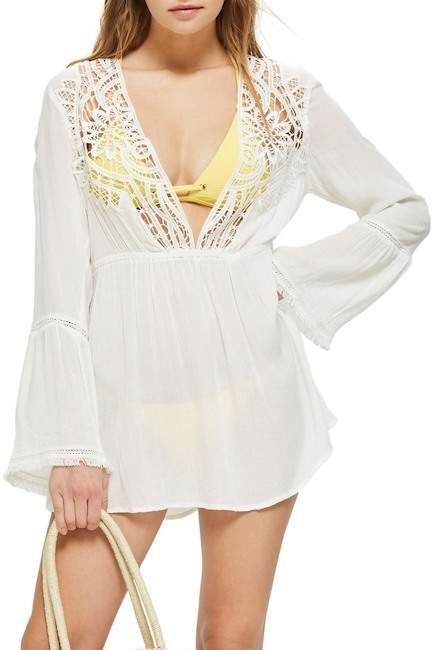 894ee1d0e3 TOPSHOP | Crochet Caftan Cover-Up | Products | Crochet lace, Cover ...