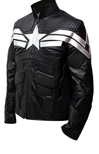 Captain America B&W Leather Jacket ^_^