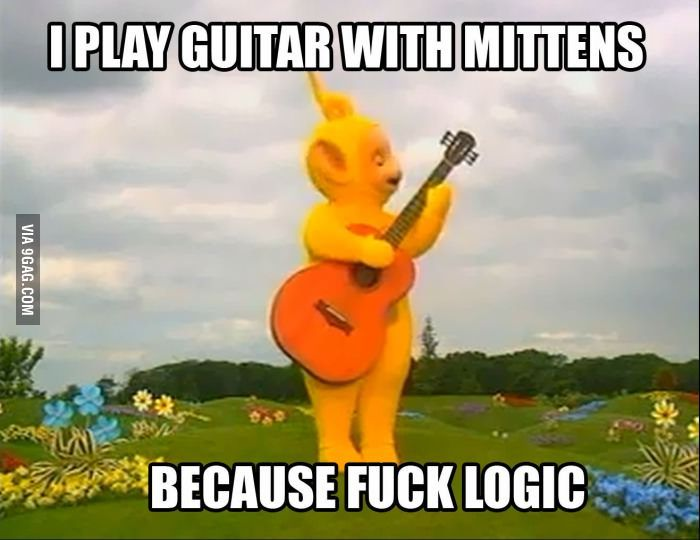 Just Teletubbies Playing Guitar And Shit Thats Funny Pinterest