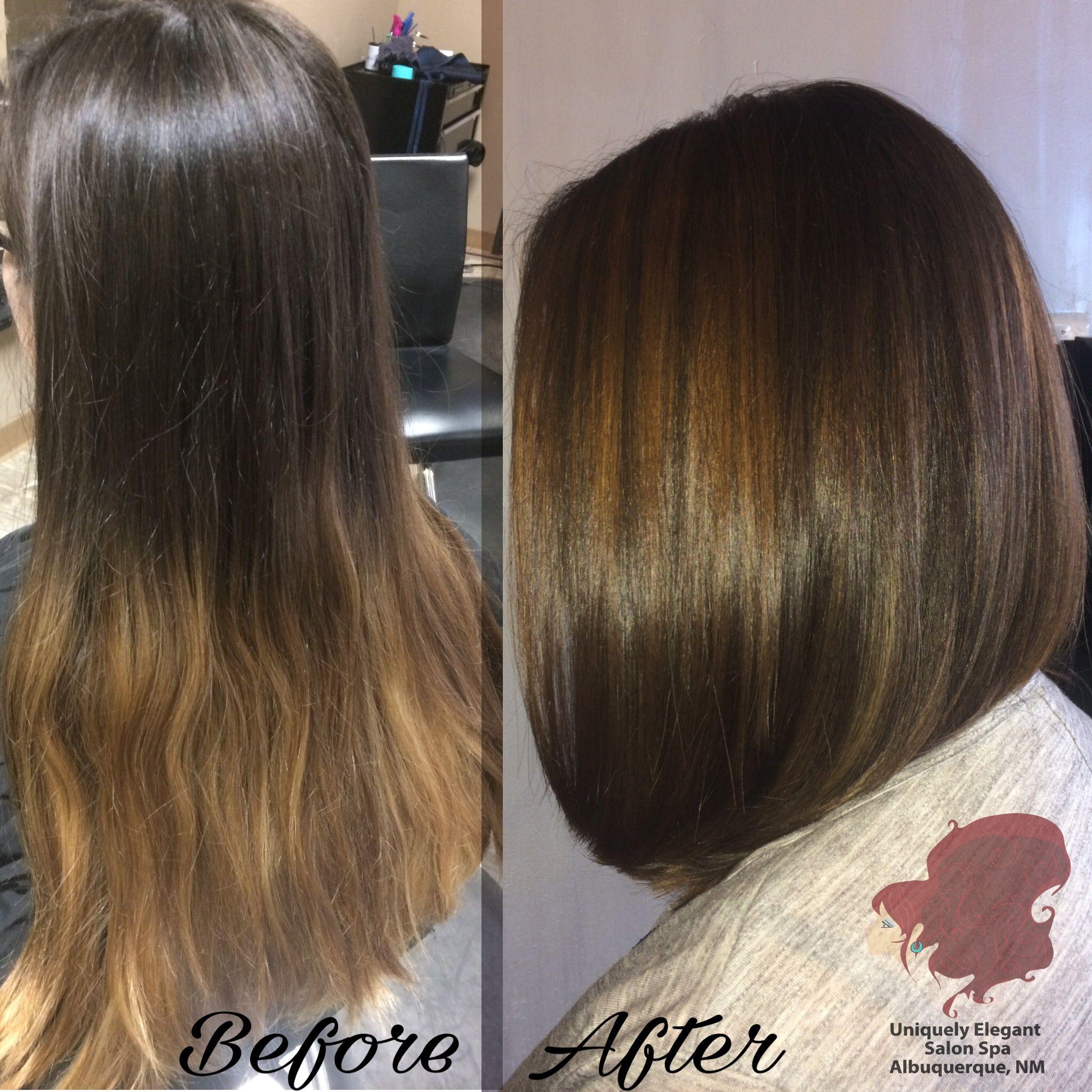 Amazing Hair Transformation From Long To Short Hair Long Bob