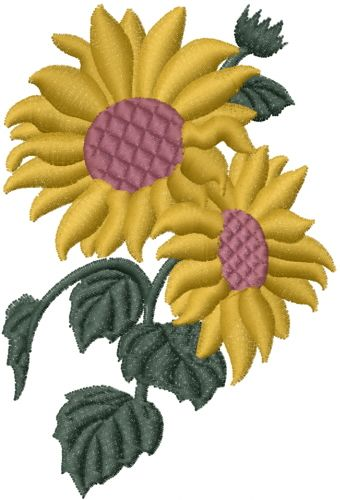This Free Embroidery Design Is A Yellow Sunflower Thanks To Ann The