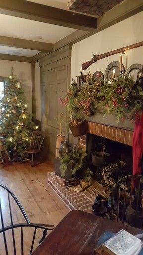 Love It Christmas Primitives Christmas Fireplace
