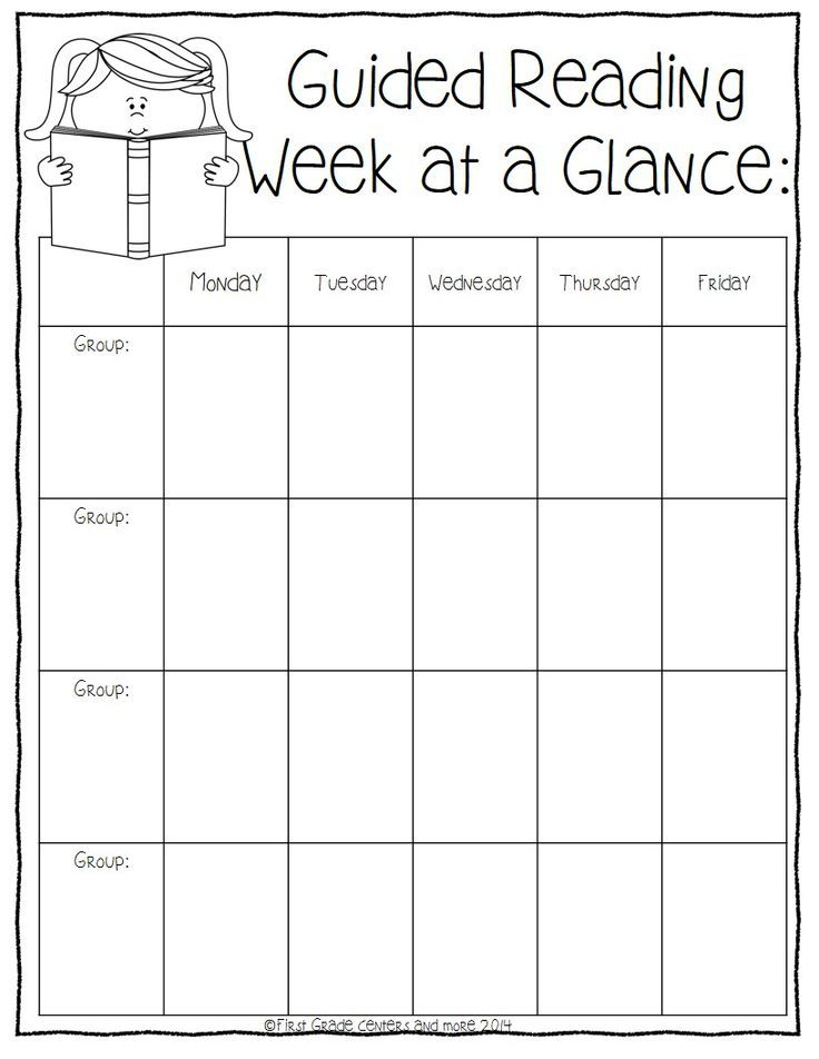 Guided Reading Planning Sheets- freebie | Guided Reading ...