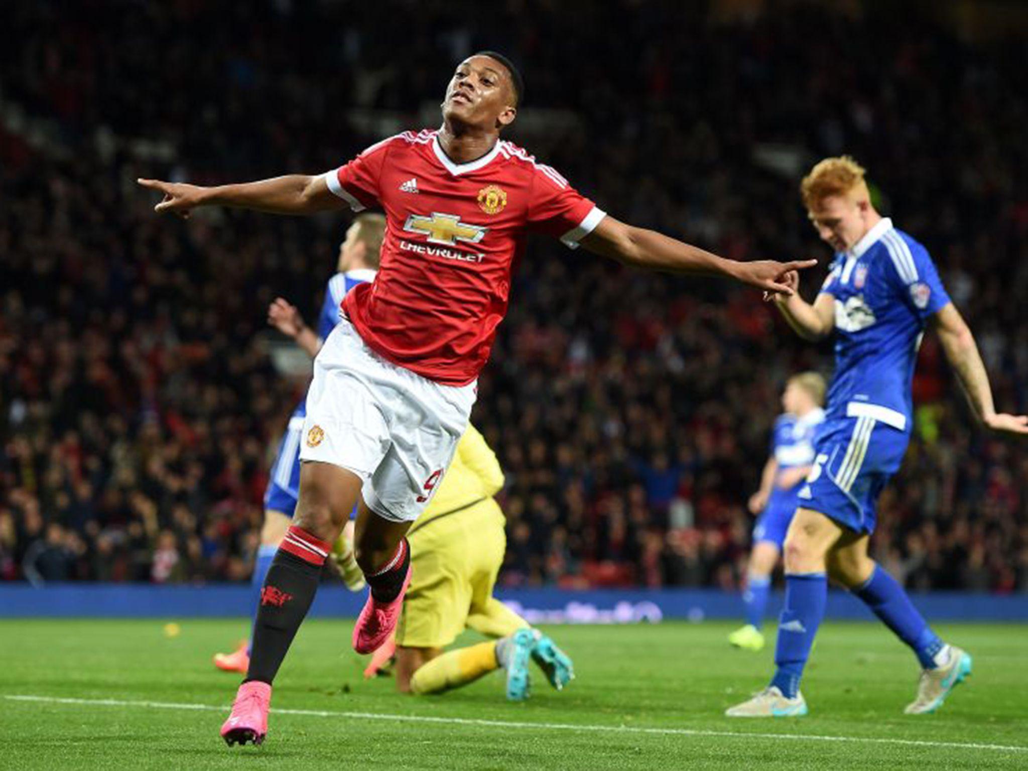 Man Utd Vs Ipswich Martial Scores Again Man Ipswich Martial