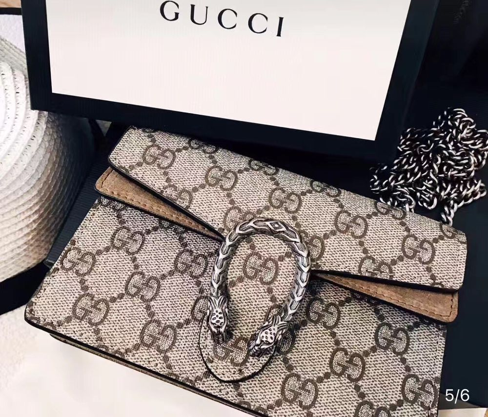 01363c9f3a6 Gucci Dionysus Authentic GG Supreme Super Mini Chain Shoulder Bag Small  MARMONT