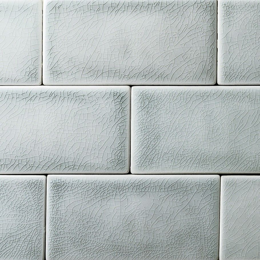 Nabi Arctic Blue 3x6 Ceramic Wall Tile In 2020 Ceramic Subway Tile Crackle Tile Handcrafted Tile