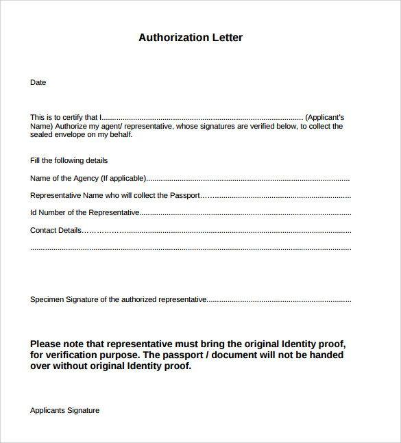 Authorization Letter Format Pdf For Insurance Details Google