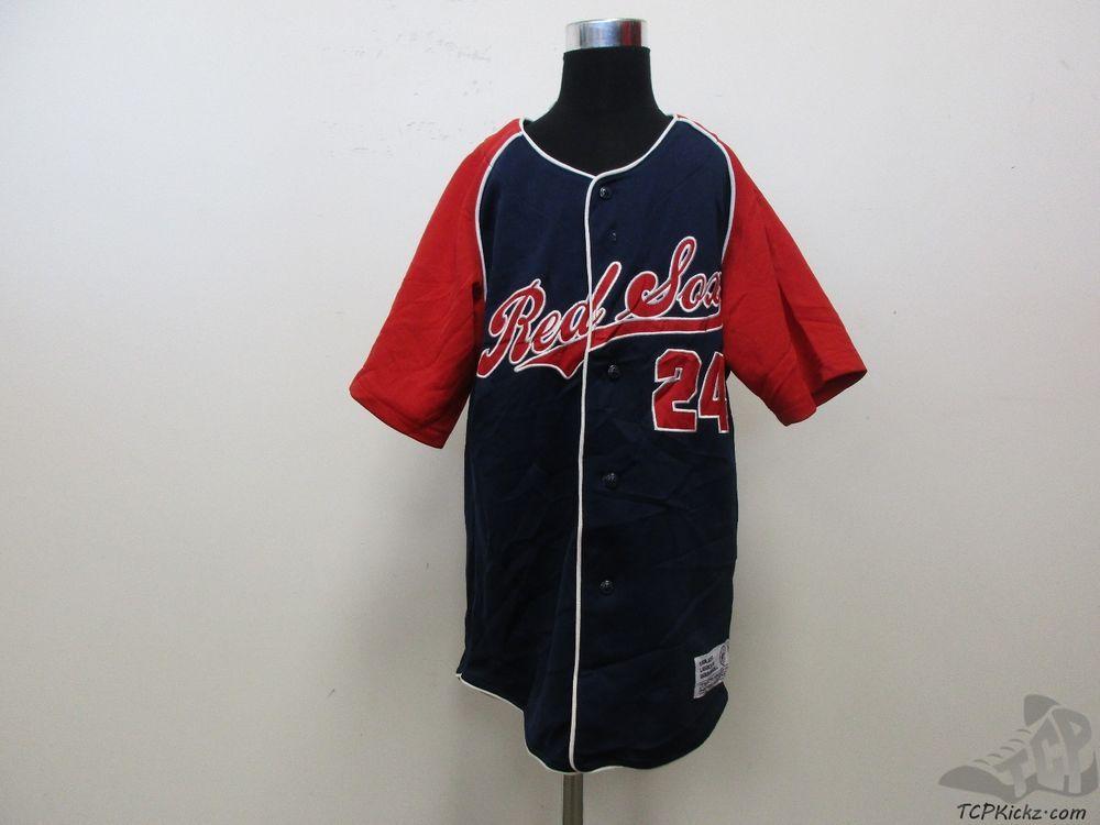 a1ed09b08 True Fan Boston Red Sox Manny Ramirez  24 SEWN Baseball Jersey sz Youth L  Large  TrueFan  BostonRedSox