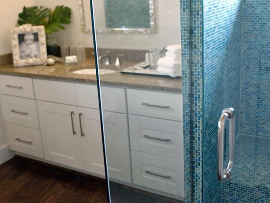 Shower wall and seat!