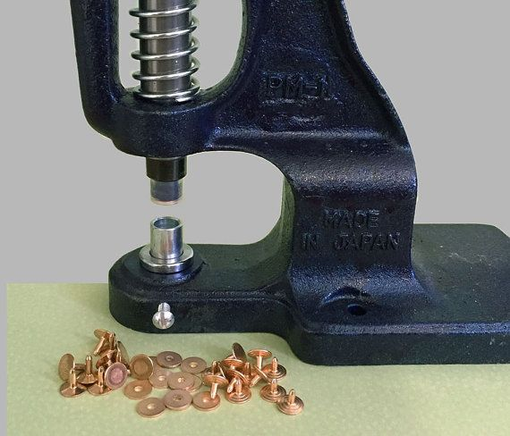 Hand-Press and Die for Punch through Rivet | Equipment | Leather