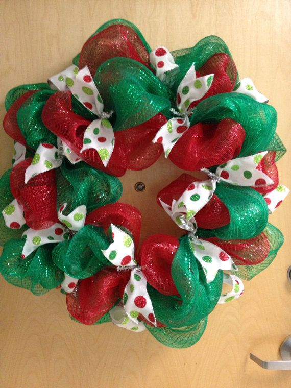 Christmas Mesh Wreath Crafts Wreaths I Love Wreaths, Christmas