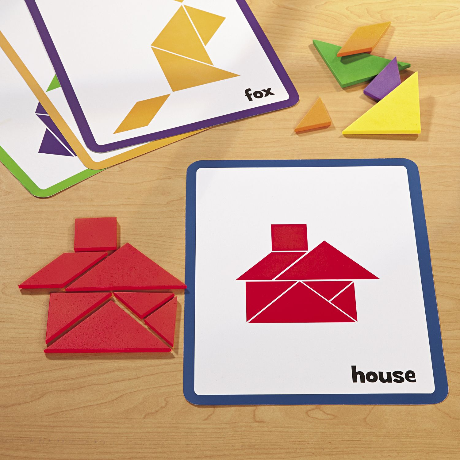 Tangram Foam Shapes Manipulatives