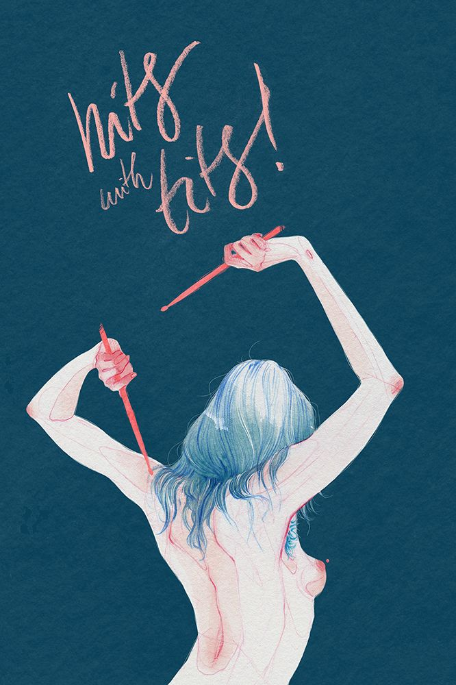Hits With Tits On Behance Pic Art Prints Art Illustration